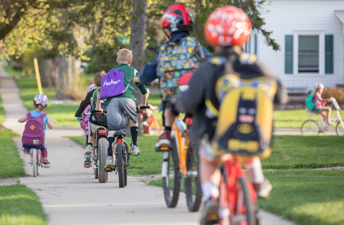 Michigan Students Get Moving on Bike to School Day