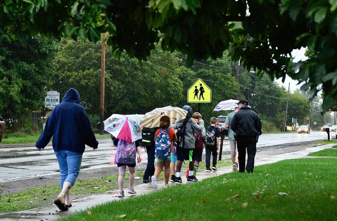 Walk to School Day and ACES Lace Up Together