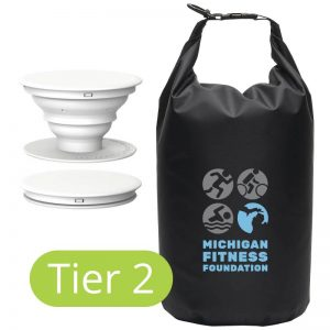 Tier 2 prizes: Pop Socket and 10 Liter Dry Bag