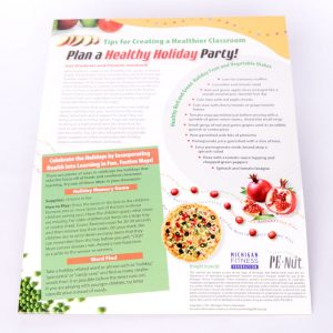 Healthy Party Tip Sheet for Teachers