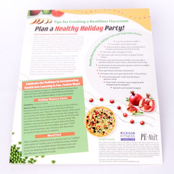 Winter Holidays Healthy Party Tip Sheet for Teachers