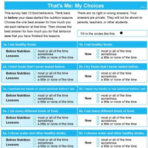 That's Me: My Choices Survey